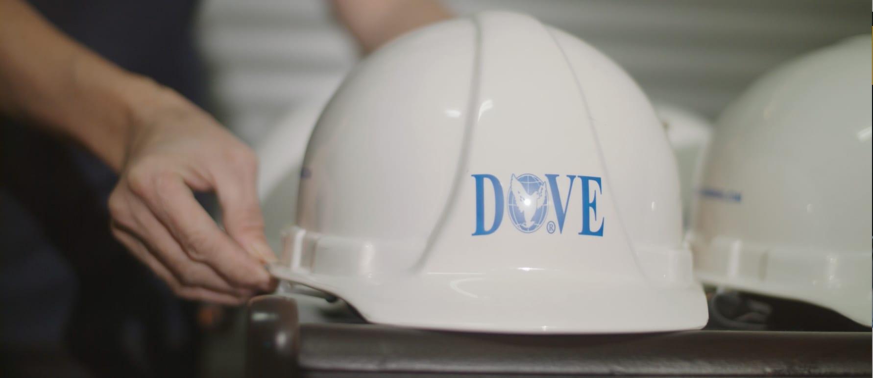 DOVE worker's white hat