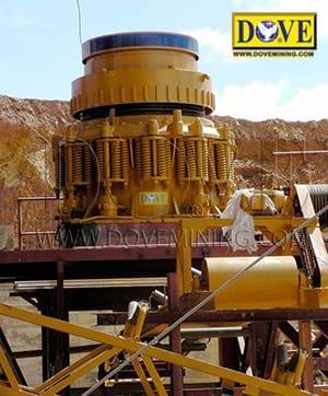 Semi stationary hard rock plant