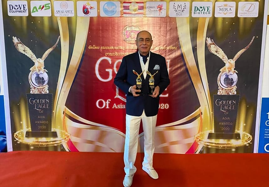 Mr. Fillip Sharifi, CEO and DOVE Group of Companies Chairman. Golden Eagle of Asia Awards 2020
