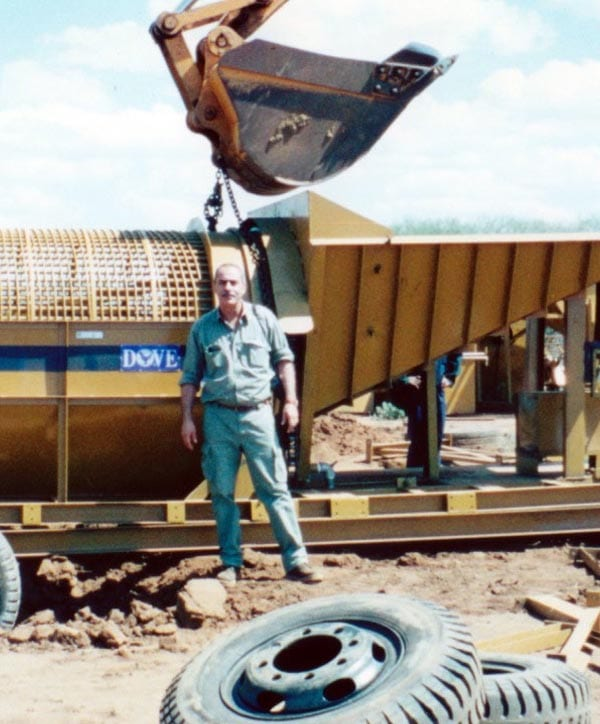 Mining precious stones in Cambodia