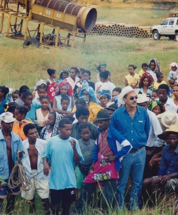 Mining precious stones in Madagascar