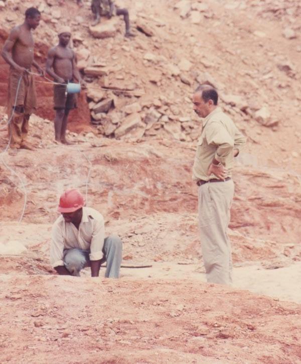 Mining gold in Tanzania