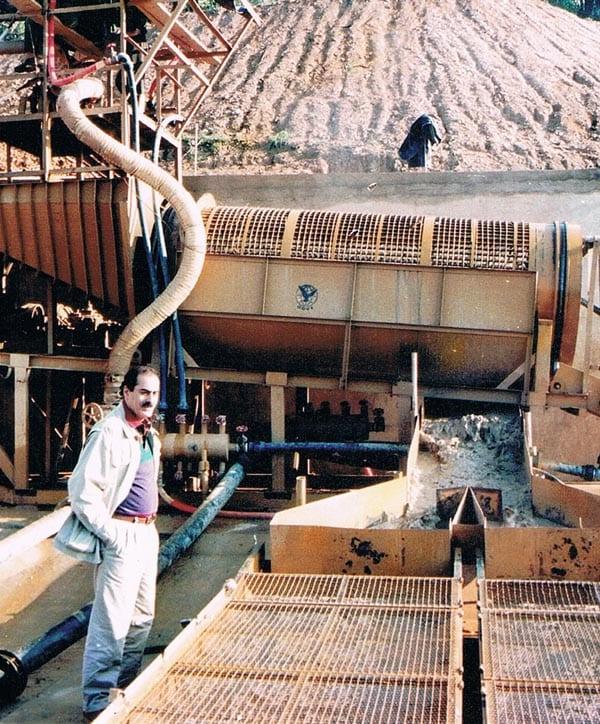 Mining precious stones in Vietnam